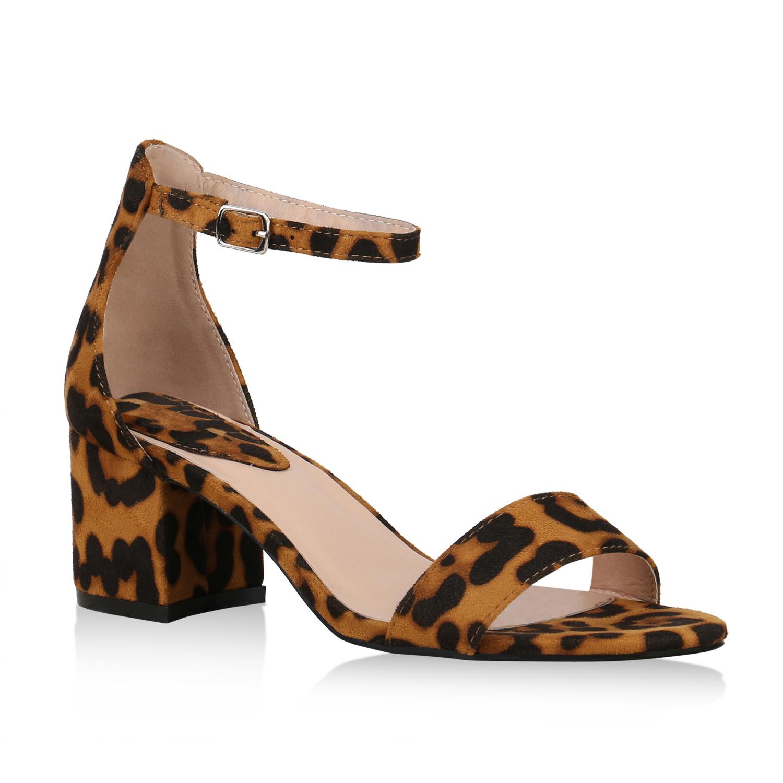 Damen Sandaletten Riemchensandaletten - Leopard