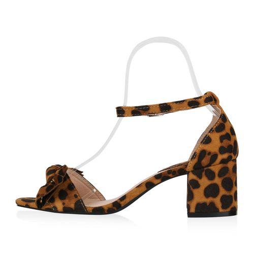 Billig Damen Schuhe Damen Sandaletten in Leopard 826288479