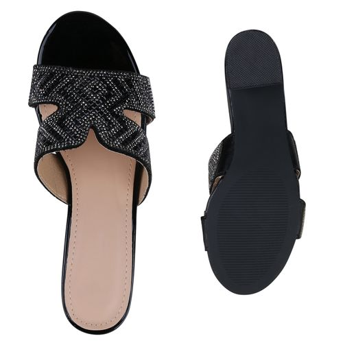 Damen Damen Schwarz Pantoletten Pantoletten Schwarz Sandaletten Sandaletten ttWqwzZfp