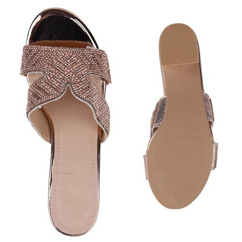 Sandaletten Rose Damen Rose Gold Pantoletten Sandaletten Damen Sandaletten Gold Damen Pantoletten tqqZRwO