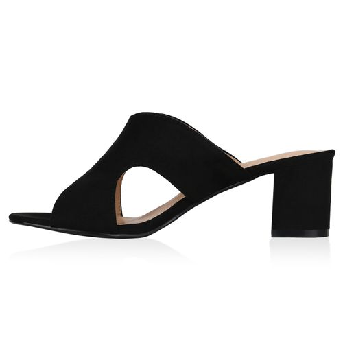 Damen Damen Damen Sandaletten Pantoletten Schwarz Pantoletten Schwarz Sandaletten Sandaletten OqRn5
