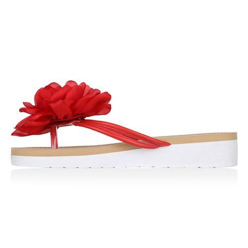 Damen Damen Sandaletten Zehentrenner Sandaletten Rot 8ffxr5F