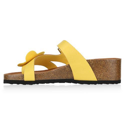 Damen Gelb Damen Gelb Zehentrenner Sandaletten Sandaletten Zehentrenner Damen Sdw7qS8