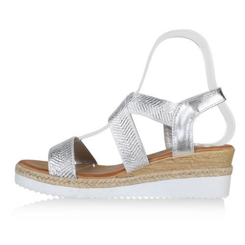 Sandaletten Damen Keilsandaletten Sandaletten Sandaletten Silber Silber Damen Damen Keilsandaletten Keilsandaletten Silber RTq5x