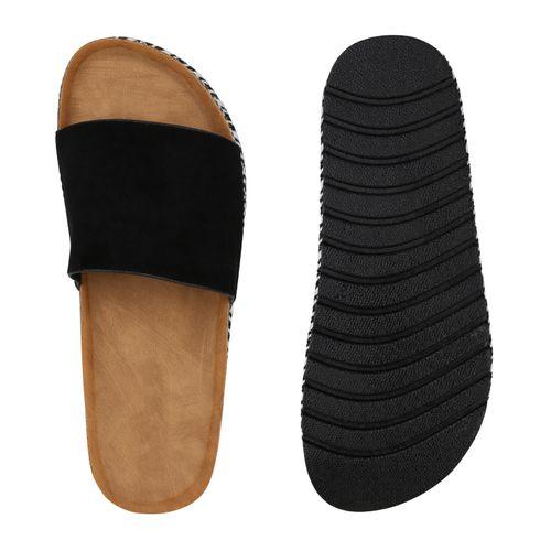 Schwarz Sandaletten Sandaletten Damen Damen Pantoletten Pantoletten Schwarz 65agqxqd