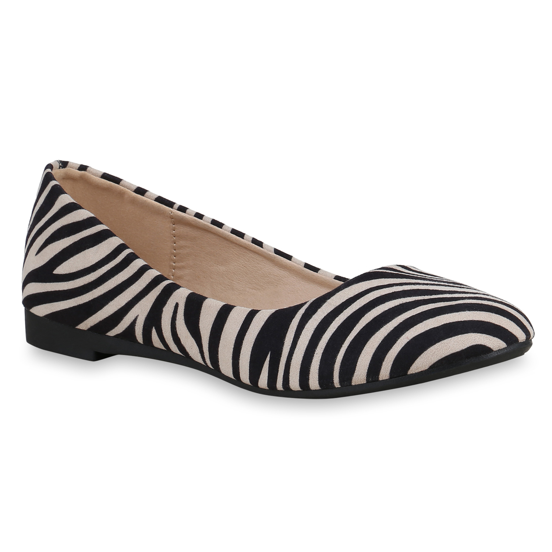 Damen Klassische Ballerinas - Zebra