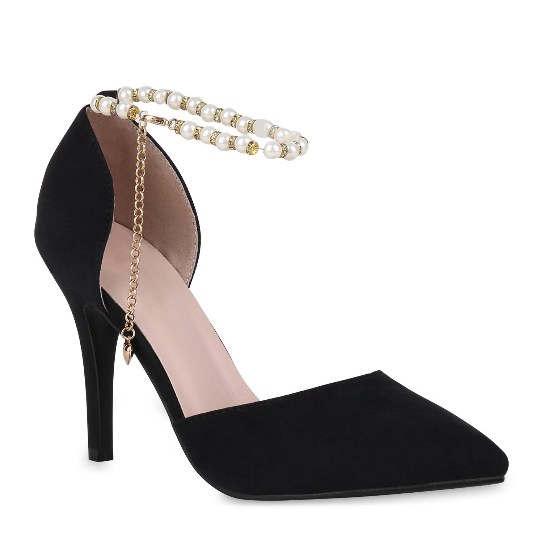 Pumps für Frauen - Damen Spitze Pumps Schwarz  - Onlineshop Stiefelparadies