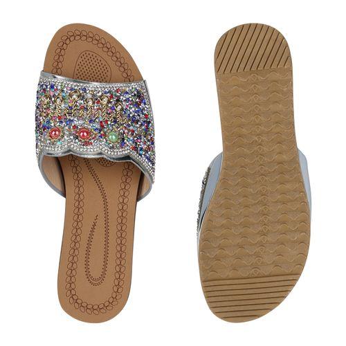 Damen Sandaletten Sandaletten Pantoletten Silber Pantoletten Damen Damen Silber Silber Pantoletten Sandaletten Silber Damen Pantoletten Sandaletten 7ZUI5Ac