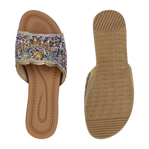 Damen Gold Damen Pantoletten Damen Sandaletten Sandaletten Pantoletten Gold Sandaletten 7w04xwX