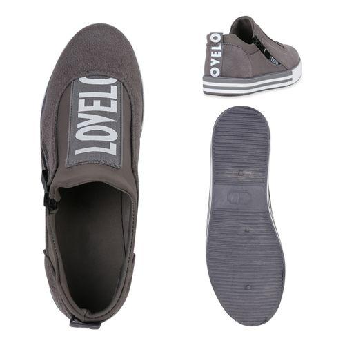 Sneaker Damen Grau Plateau Damen Plateau Sneaker Grau Damen vzdx5wq