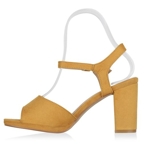 Damen Sandaletten Damen Riemchensandaletten Gelb Riemchensandaletten Damen Gelb Sandaletten BwHdXB