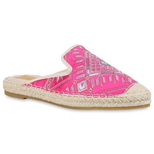 Damen Slippers Pantoletten - Pink