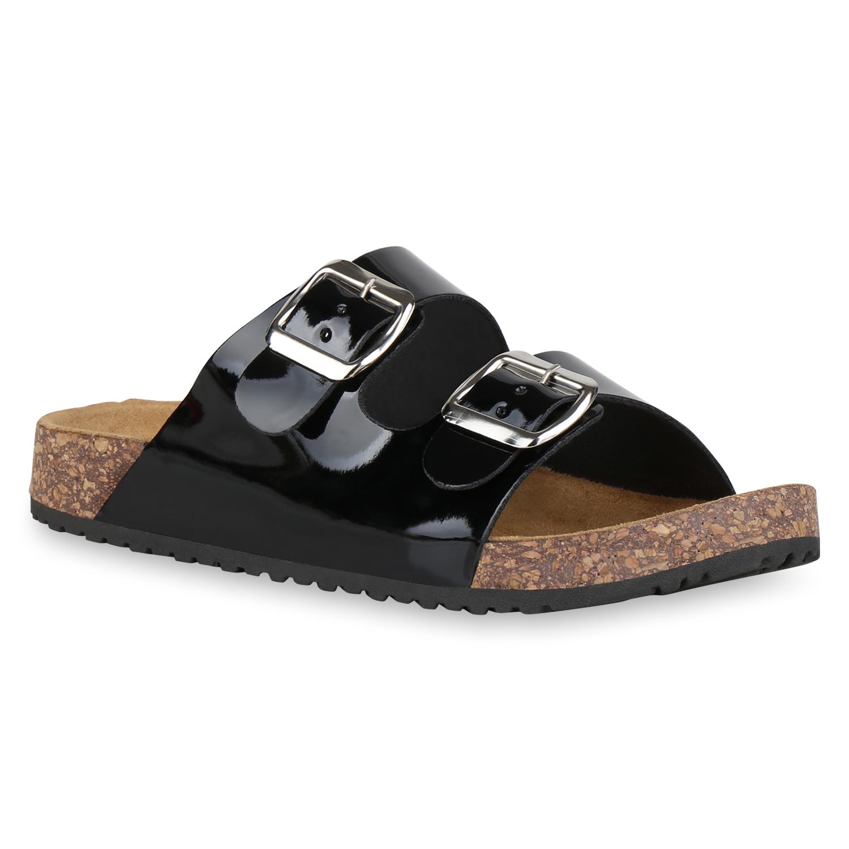 Sandalen für Frauen - Damen Sandalen Pantoletten Schwarz › stiefelpardies.de  - Onlineshop Stiefelparadies