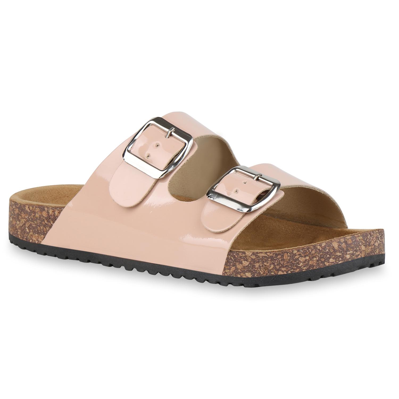 Sandalen für Frauen - Damen Sandalen Pantoletten Rosa › stiefelpardies.de  - Onlineshop Stiefelparadies