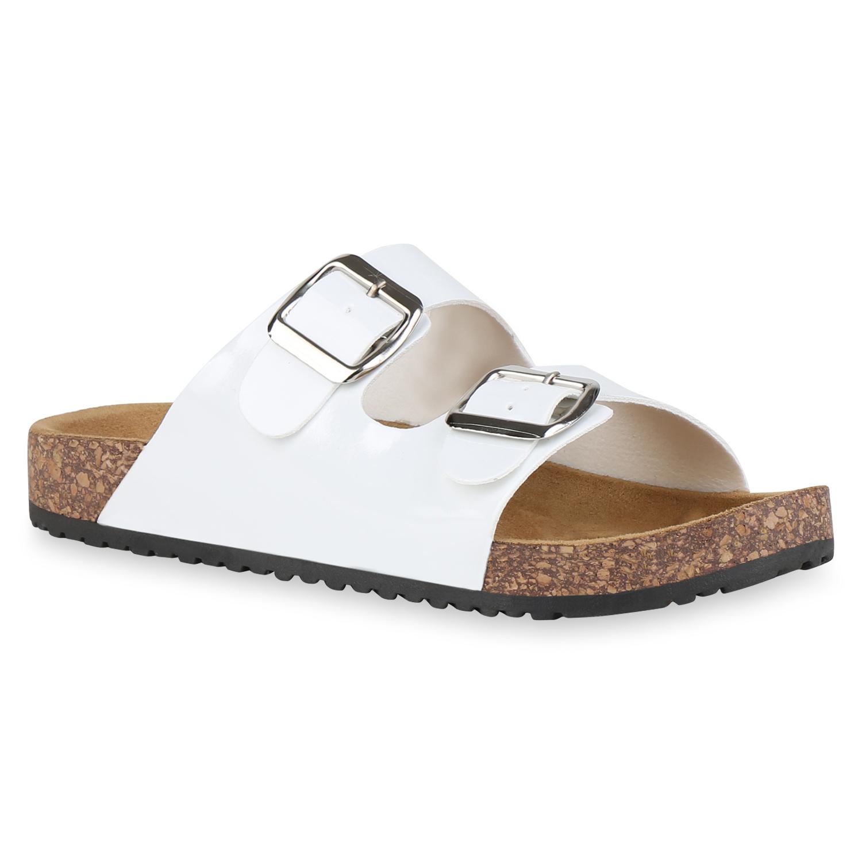Sandalen für Frauen - Damen Sandalen Pantoletten Weiß › stiefelpardies.de  - Onlineshop Stiefelparadies