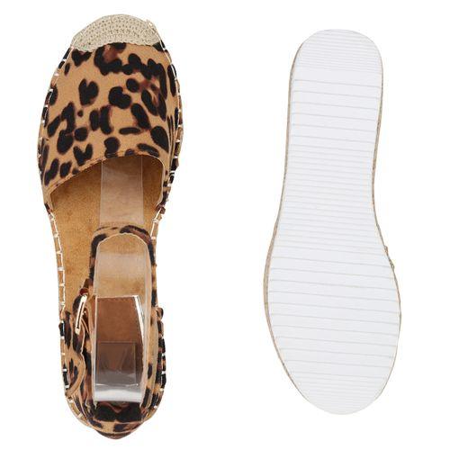Damen Plateau Sandaletten Leopard Sandaletten Damen Damen Sandaletten Damen Leopard Leopard Plateau Plateau 5Yq61
