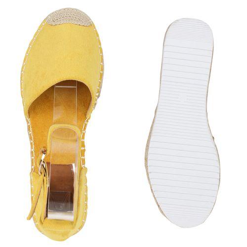 Gelb Damen Sandaletten Gelb Gelb Sandaletten Damen Damen Sandaletten Plateau Plateau Damen Plateau qvaIHx5