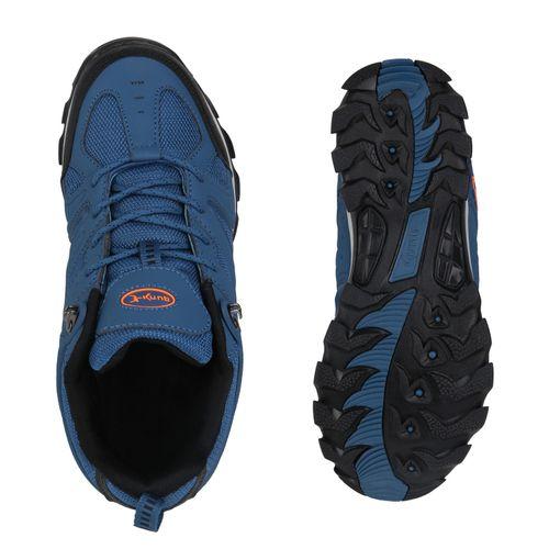 competitive price 13664 08d98 Herren Halbschuhe Outdoor Schuhe - Blau Schwarz Neonorange