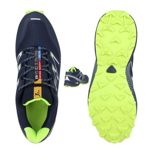 Herren Sportschuhe Laufschuhe - Dunkelblau Weiß Neongrün
