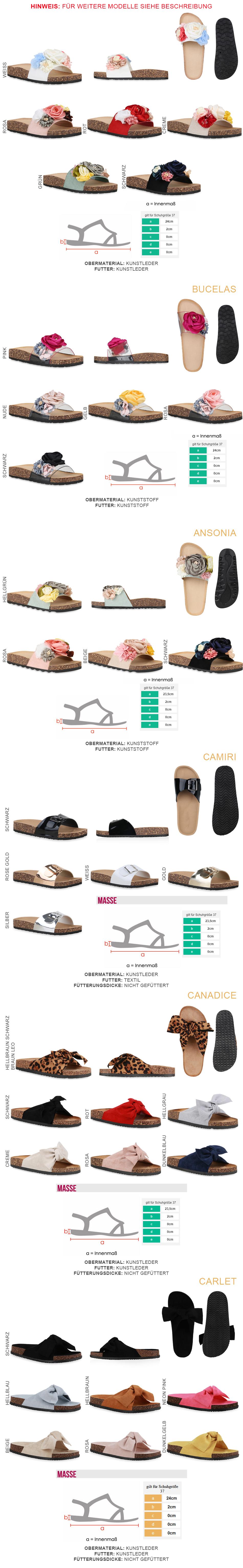 Details zu Damen Sandalen Pantoletten Blumen Schlappen Hausschuhe Flats 826456 Trendy Neu