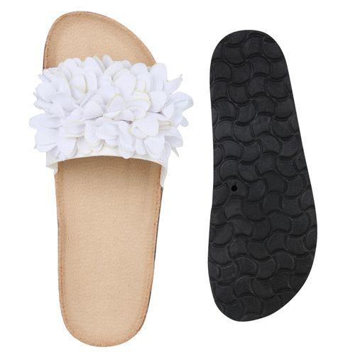 Damen Pantoletten Damen Sandalen Weiß Sandalen 7vYqOv