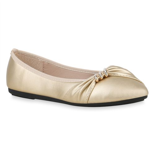 the best attitude 43426 60e95 Damen Klassische Ballerinas - Gold