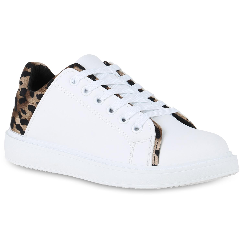 Damen Sneaker low - Weiß Leopard