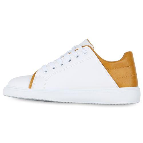 Damen Sneaker low - Weiß Gelb