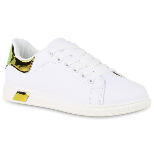4e1532e7a6 Damen Sneaker in Weiß Mehrfarbig Metallic (897727-6254 ...
