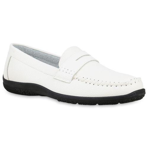 Herren Slippers Mokassins - Weiß