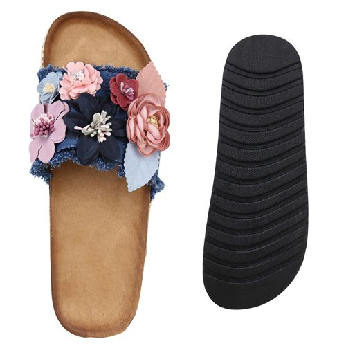 Blau Blau Damen Pantoletten Sandaletten Sandaletten Pantoletten Sandaletten Damen Damen Blau Pantoletten PFPUwfqnxt
