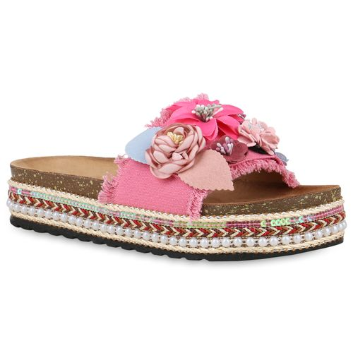 Pantoletten Pantoletten Sandaletten Sandaletten Pink Pantoletten Pink Sandaletten Damen Damen Damen pq45Ew8x