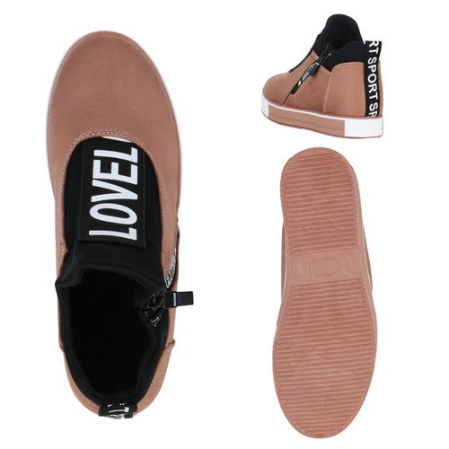Damen Plateau Sneaker - Altrosa