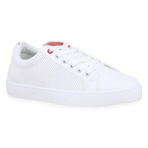 Sneaker Low Weiß Damen Damen Rot Low Rot Sneaker Weiß Damen Sneaker w4qzatd