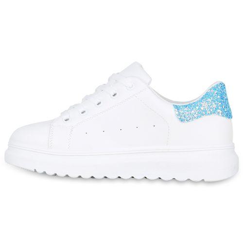 Sneaker Plateau Damen Sneaker Blau Plateau Damen Blau Weiß Weiß Plateau Damen qwgUIx