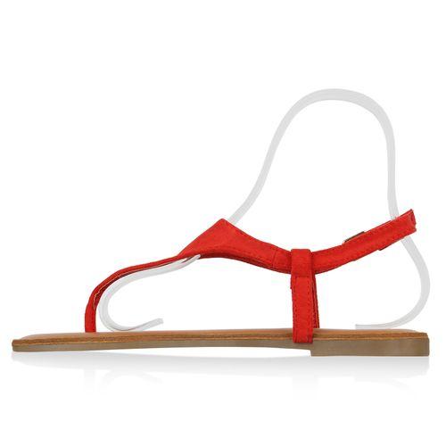 Damen Sandalen Zehentrenner - Rot
