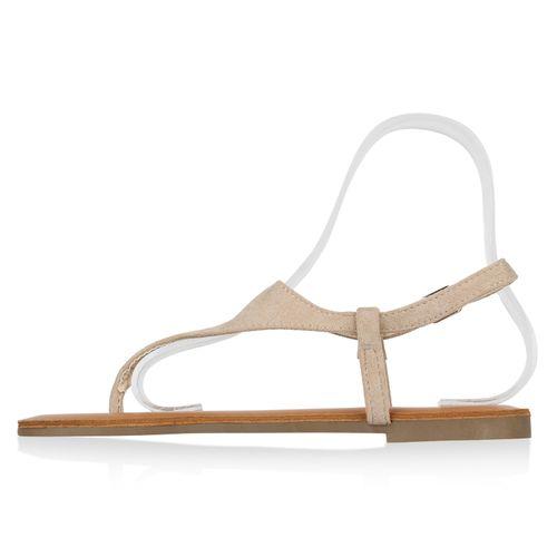 Damen Beige Damen Zehentrenner Sandalen Sandalen dwzIdH