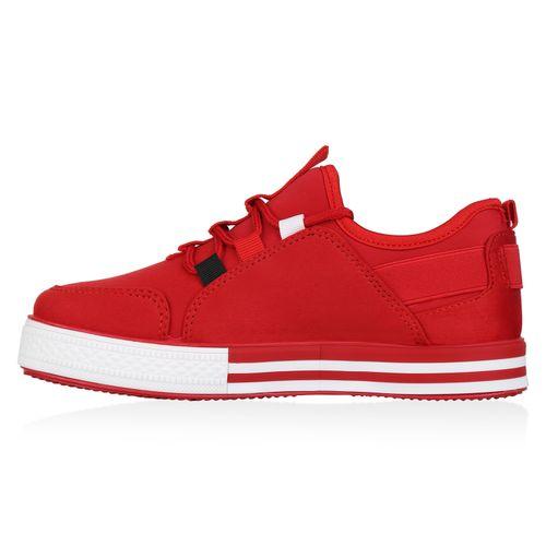 Sneaker Rot Damen Plateau Damen Plateau TgUxPOq