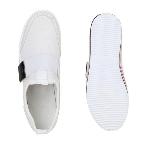 Damen Plateau Sneaker Damen Plateau Weiß 8qdgxw