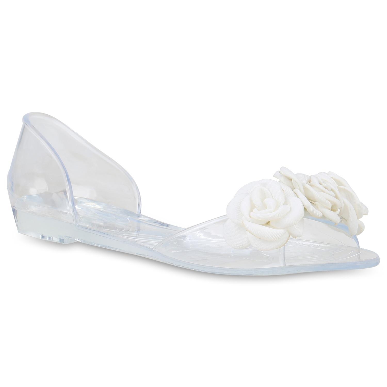 Sandalen - Damen Sandalen Riemchensandalen Weiß › stiefelparadies.de  - Onlineshop Stiefelparadies