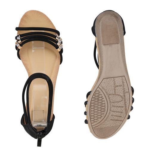 Schwarz Keilsandaletten Damen Sandaletten Sandaletten Damen Keilsandaletten Schwarz ZYHdYq
