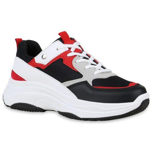 Damen Plateau Sneaker Damen Sneaker Schwarz Schwarz Plateau xzvnxBH