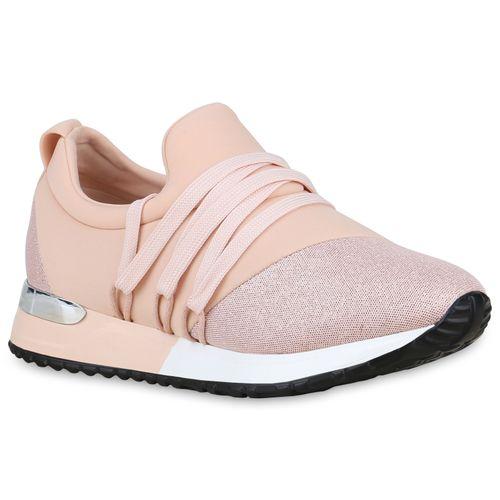 Sneaker Sneaker Plateau Rosa Damen Damen Damen Rosa Plateau vqw7SEY8