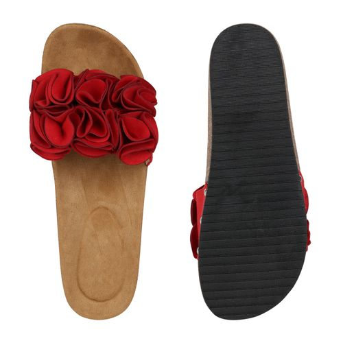 Damen Sandaletten Damen Sandaletten Rot Pantoletten wxPXpAqT1