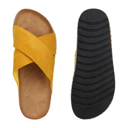 Damen Gelb Pantoletten Damen Gelb Sandaletten Sandaletten Sandaletten Damen Pantoletten 0RxI8