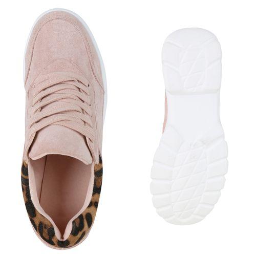 Sneaker Plateau Plateau Plateau Damen Leo Leo Rosa Rosa Damen Sneaker Damen gwnOqA