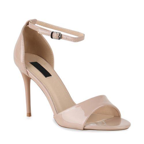 Sandaletten Sandaletten Damen Sandaletten High Heels Nude Nude High Heels Damen Damen thBsdxQrC