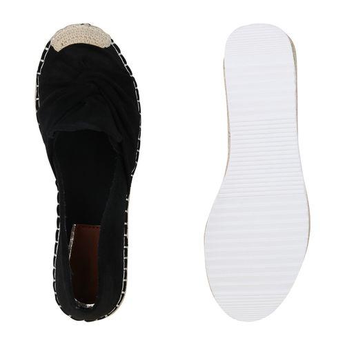 Damen Slippers Espadrilles - Schwarz