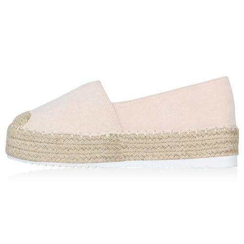 Damen Slippers Espadrilles - Creme
