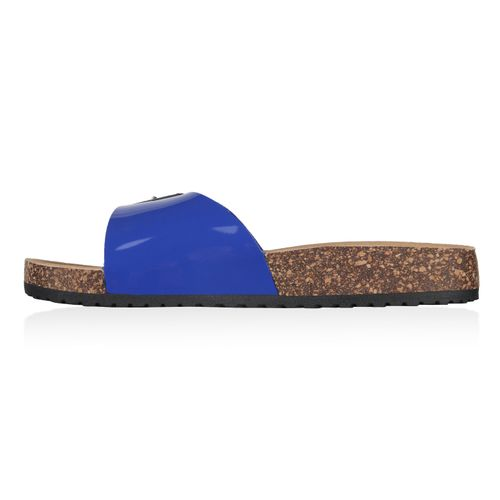 Damen Sandalen Pantoletten - Blau